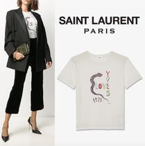 Saint Laurent ☆ Tシャツ  LOVE YVES 1975  ☆ ナチュラル