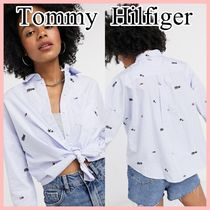 Tommy Jeans クリッタープリントシャツ Light Blue 送料込み