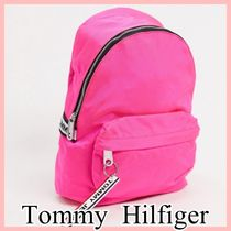 Tommy Jeans ロゴテープ バックパック Pink 送料込み