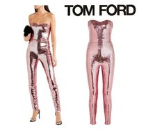 TOM FORD☆Strapless sequined stretch-crepe jumpsuit