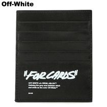 OFF WHITE FOR CARDS QUOTE CARDHOLDER レザー カードケース