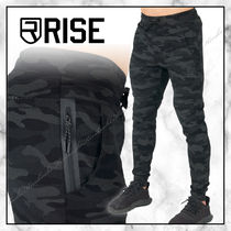 ◆RISE 20SS 最新◆迷彩プリント ピークボトムス◆BLACK CAMO