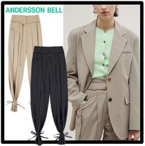 ANDERSSON BELL(アンダースンベル) パンツ 関税込★ANDERSSON BELL★KATINA WIDE ANKLE-STRING WOOL PANTS