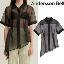★20SS★ANDERSSON BELL★ FLOWER EMBROIDERED ORGANZA SHIRT