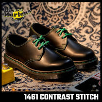 【Dr.Martens】1461 GS BLACK SMOOTH グリーン ステッチ