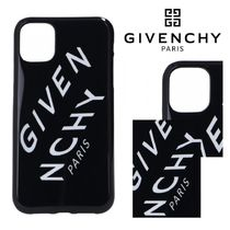 SALE★曲斜ロゴ【送込 Givenchy】iPhone 11/Pro/Max★黒/白文字