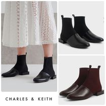 ★CHARLES & KEITH★Slip-On Ankle Boots ブーツ/送料込