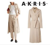 AKRIS☆Teri belted cotton&silk-blend gabardine trench coat