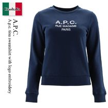 A.p.c. tina sweatshirt with logo embroidery