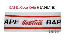 送料込!A BATHING APE × COCA-COLA HEADBAND ヘッドバンド 白