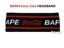 送料込!A BATHING APE × COCA-COLA HEADBAND ヘッドバンド 黒