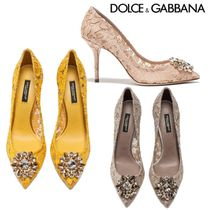 Dolce & Gabbana(ドルチェ&ガッバーナ) パンプス ドルチェ&ガッバーナ直営店◆Pump taormina lace with crystals