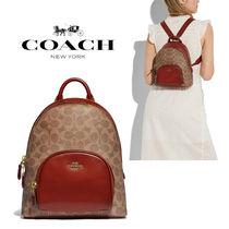 ◆COACH◆Carrie backpack 23 in signature canvas バックパック
