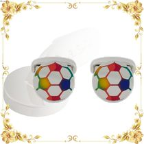 VIPセール◆enamelled rainbow football cufflinks
