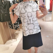 【HERMES】T-shirt micro imprime  Projets Carres 直営店