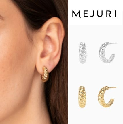 *MEJURI*ミニ フープ ピアス Croissant Dome Hoops