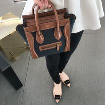 送料込【CELINE】NANO LUGGAGE BAG IN TEXTILE AND CALFSKIN