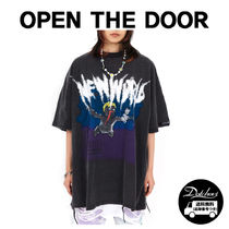 OPEN THE DOOR dark gray painting 1/2 T YI580 追跡付