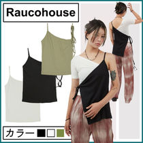 【Raucohouse】one shoulder unbalance strap sleeve★