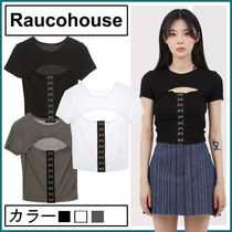 【Raucohouse】Cutout Loop Crop Top★人気商品