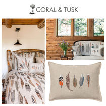 【coral&tusk】ファブリッククッション Small feathers pillow