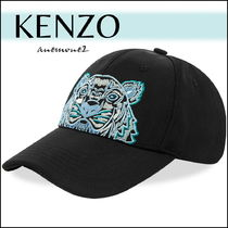 KENZOケンゾー ☆ EMBROIDERED TIGER キャップ/黒 送関込