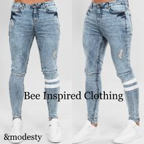 【Bee Inspired Clothing】スキニーストレッチ ライトウォッシュ
