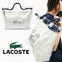 LACOSTE(ラコステ) トートバッグ Lacoste☆Clear Shopper Bag☆クリアショッピングバッグ☆送料込