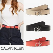 "【Calvin Klein】""RE LOCK LOW FIXED"" ロゴレザーベルト☆3色"