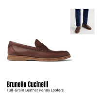 {Brunello Cucinelli}Leather Penny Loafers 送料関税込