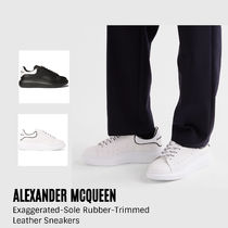 {Alexander McQueen}Rubber-Trimmed Leather Sneakers送料関税込