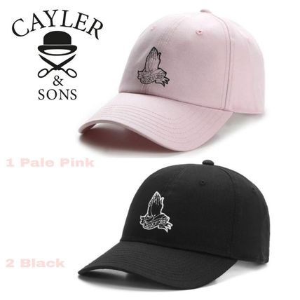 SALE★Wl Chosen Curved Cap【送込Cayler&Sons】祈る手★桃/黒