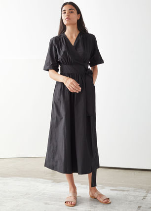 & Other Stories ワンピース & Other Stories☆Voluminous Wrap Midi Dress