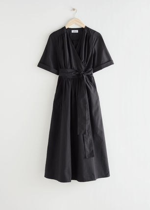 & Other Stories ワンピース & Other Stories☆Voluminous Wrap Midi Dress(4)