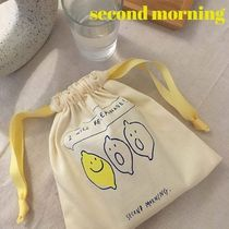 """SECOND MORNING(セカンドモーニング) メイクポーチ 韓国 """"second morning""""lemonade pouch 2色から1つ選択 送料無料"""