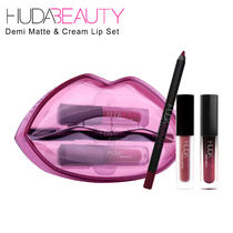 【HUDA BEAUTY】Demi Matte & Cream Lip Set リップ3点セット☆