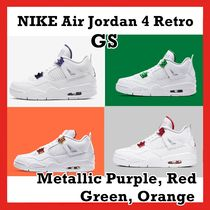 Nike Air Jordan 4 Retro Metallic Red Orange Green Purple GS