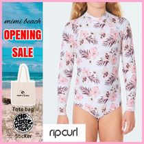 RIP CURL(リップカール) 子供用水着・ビーチグッズ 【送料・関税込み】〈RIP CURL〉Girls L/S Back Zip Surf Suit