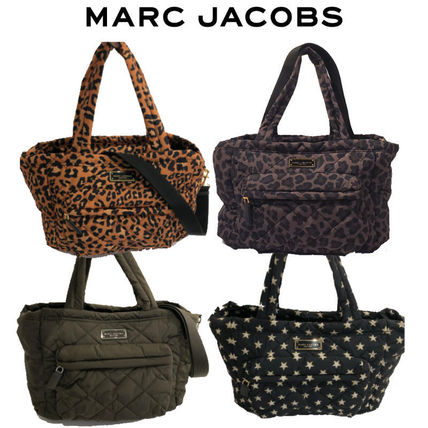 MARC JACOBS(マークジェイコブス) マザーズバッグ Marc Jacobs◆QUILTED NYLON TOTE マザーズバッグ レオパード