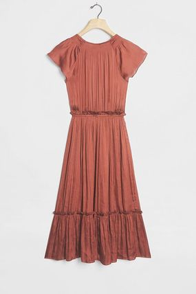 Anthropologie ワンピース セール! Current Air Dodie Flutter-Sleeved Midi Dress(3)