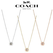 ◆COACH◆Open circle stone strand necklace ネックレス
