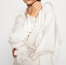 "ARKET(アーケット) ブラウス・シャツ ""ARKET"" Folded-Collar Lyocell Blouse Off-White"