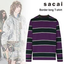 洒落感抜群◆ sacai ◆Border long T-shirt◆関税込