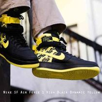 Nike SF AF1 Special Field Air Force 1 イエローロゴパターン