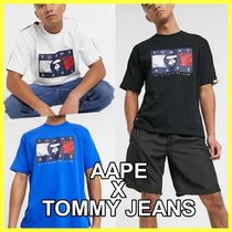 ♦AAPE x Tommy Jeans*フラッグロゴ Tシャツ♦