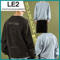 ☆LE2☆BTS  JUNG KOOK着用☆skate board sweat shirt【全2色】