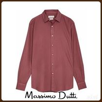 MassimoDutti♪SLIM FIT COTTON PLAIN SHIRT