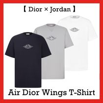 Dior x NIKE Air Jordan Wings Tee T-Shirt Grey Black White