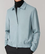 """COS(コス) ブルゾン """"COS MEN"""" ZIP-UP WOOL JACKET TURQUOISE"""