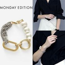 ★MONDAY EDITION★BIG SHAPE BOLD CHAIN AND PEARL BRACELET